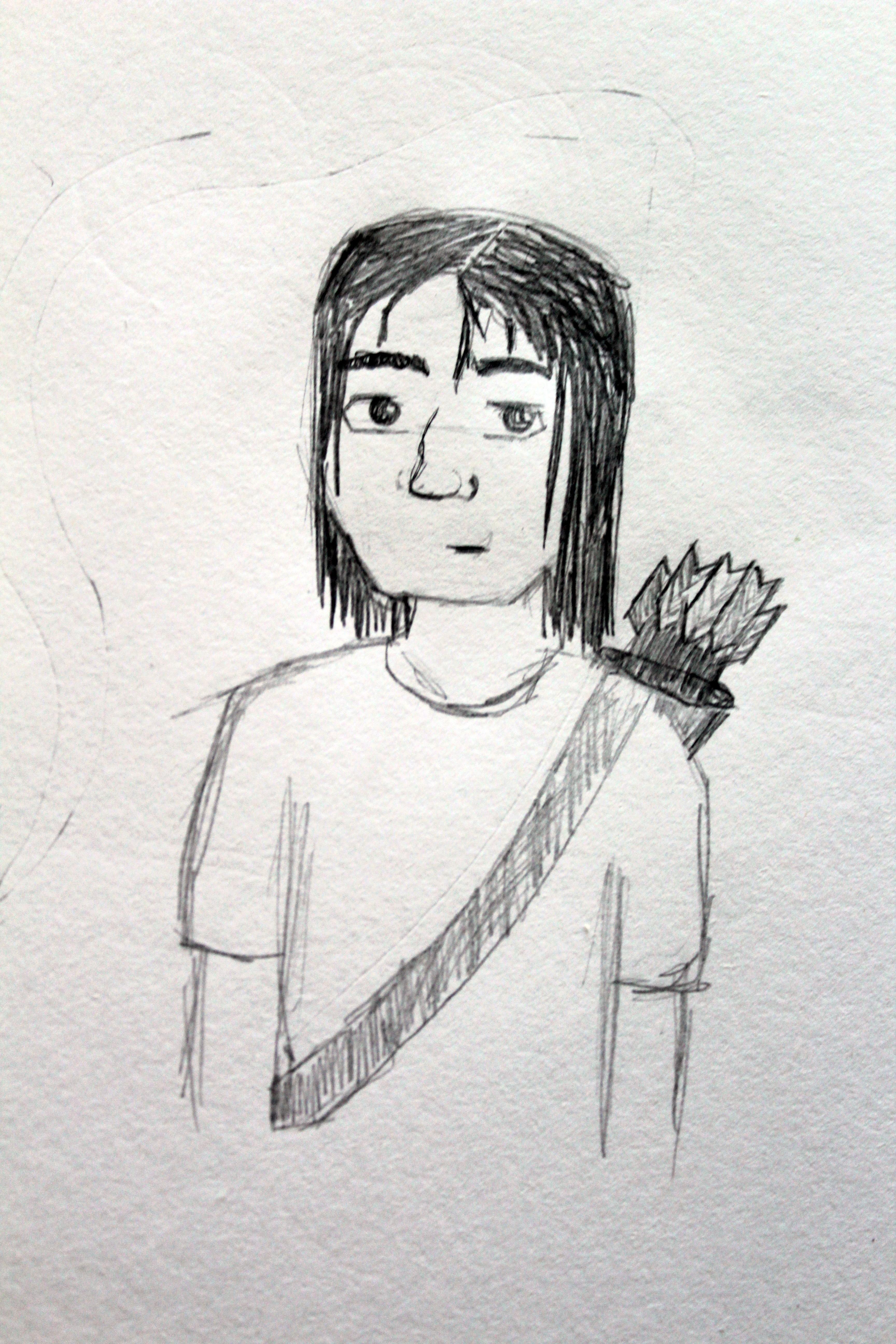 Here's your character. Sorry it looks so bad. I'm not a great artist.